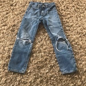 Children's Place Boys 6/6T Torn Straight Leg Jeans
